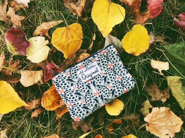 handmade coin purse - butterfly print
