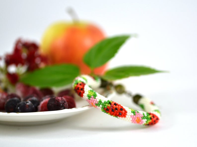 Strawberry Print Gifts - Bracelet