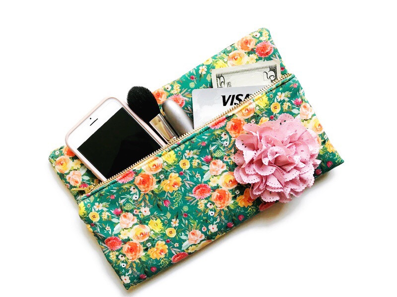 Green Gifts For Her - Foldover Clutch Bag