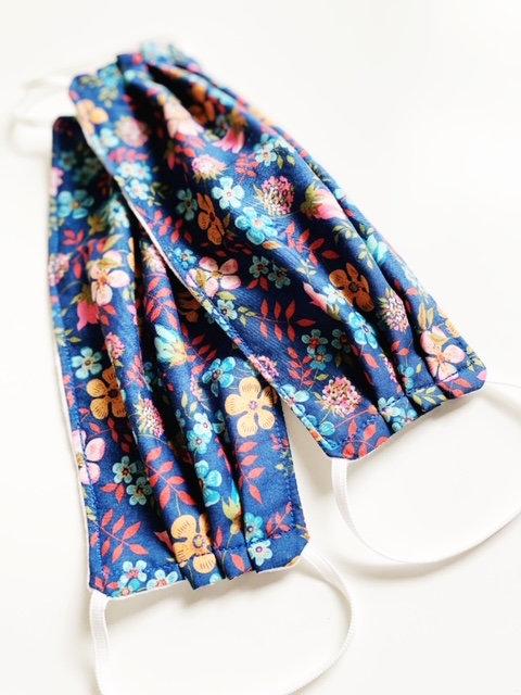 cloth face masks - periwinkle blue