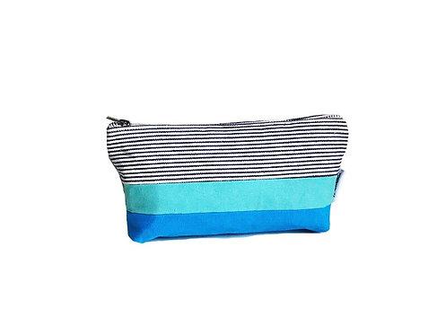 Turquoise Canvas Zipper Pouch