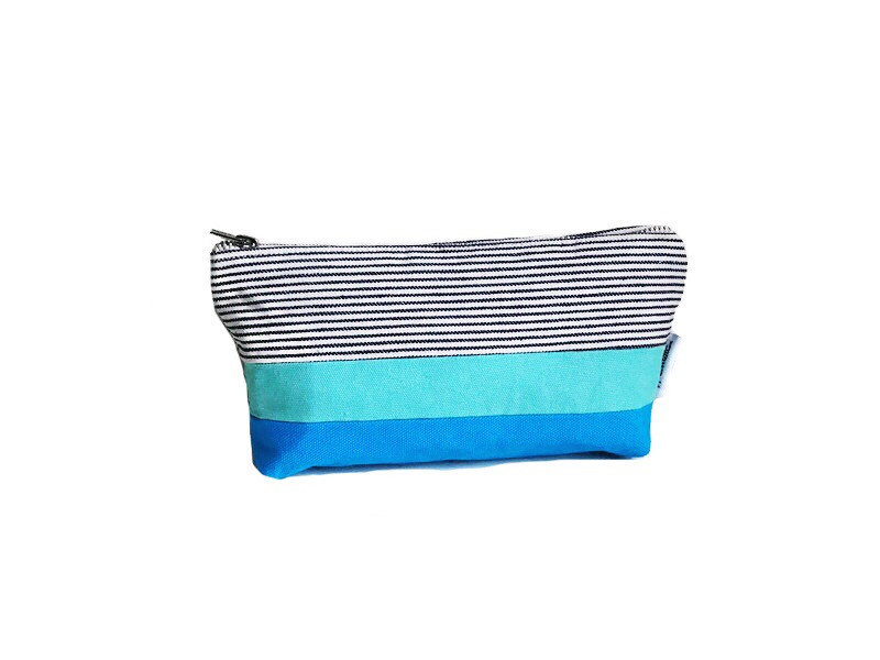 Canvas Zipper Pouch - Turquoise