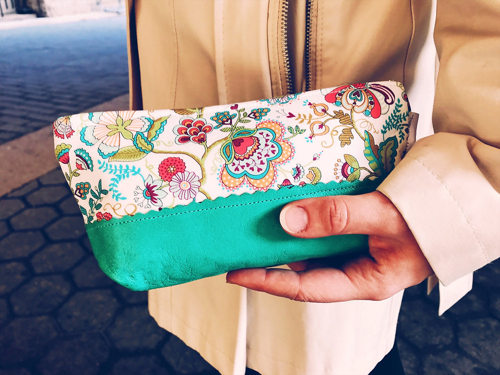 Leather Makeup Bag  - Paisley
