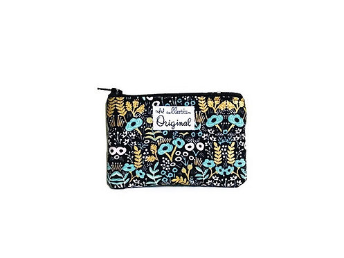 Black Floral Change Purse