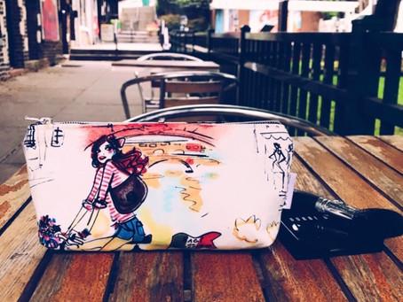 Handmade Makeup Bag - Who's That Girl?