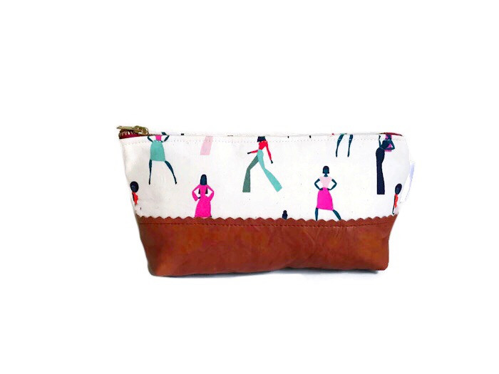 Holiday Gift Guide for Her - Womens Leather Makeup Bag