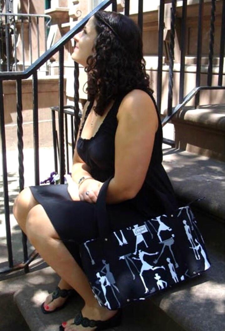 handmade tote bag - female silhouette body