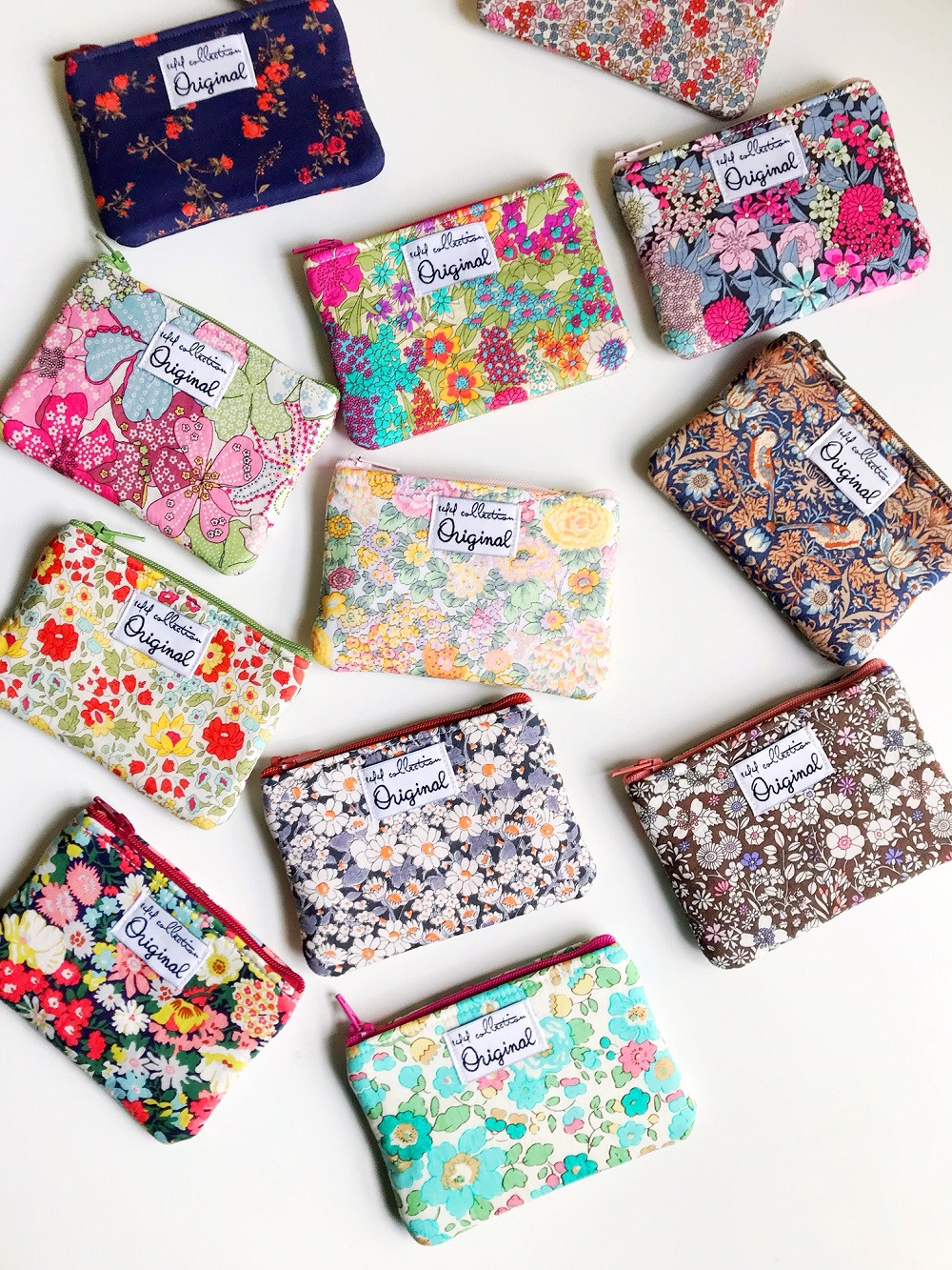 Coin Purse Wallets - Floral Coin Purses Made with Liberty of London Fabric