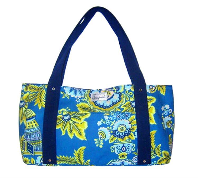 Handmade bag - Blue Floral Print