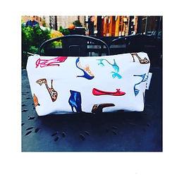 Handmade Makeup Bag - Ladies Shoes Print