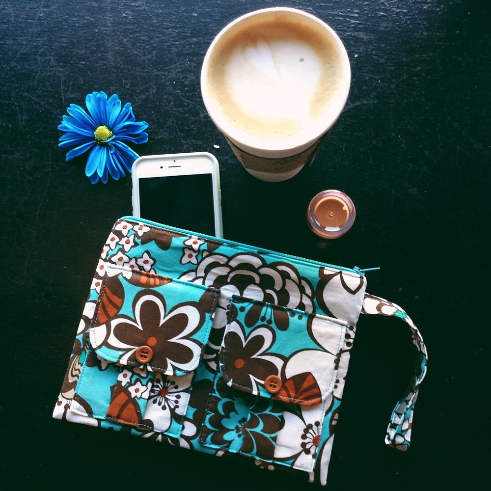Wristlet Bag - Floral Fabric Wallet Wristlet