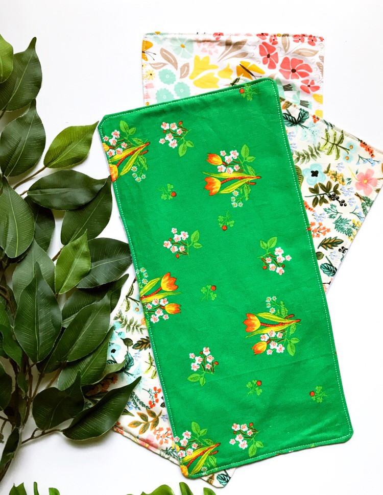 Floral Baby Girl Burp Cloths