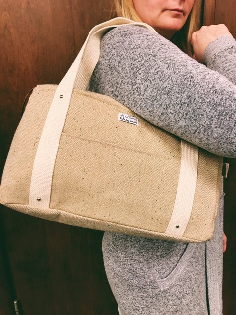 overnight bag for women - tan tote bag