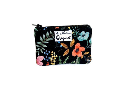 herb garden canvas coin purse