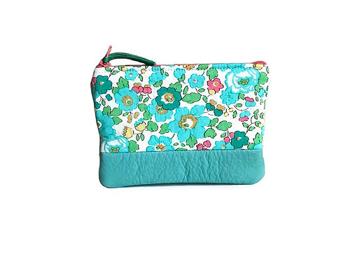 Betsy Turquoise Leather Change Purse