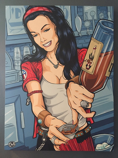 "SOLD ""The Bartender"" Original Painting"