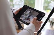 Virtual reality technology. Matterport, scan, property and house sale.