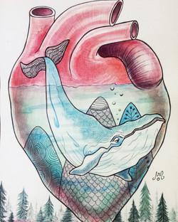 ilustracion corazon amigo invisible