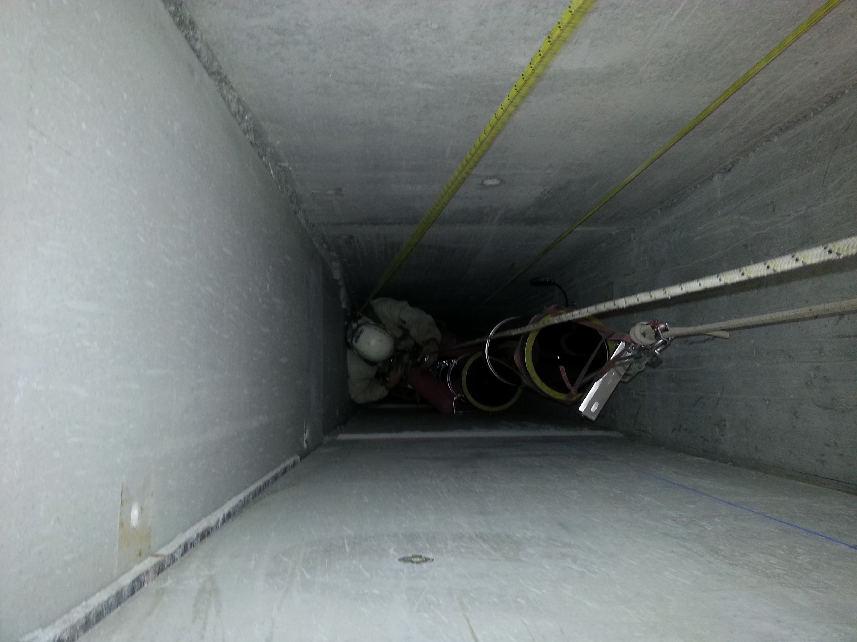 Installation tubage sur 30m
