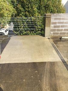 Parking deck pressure washing