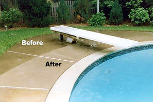 Pooldeck pressure washing
