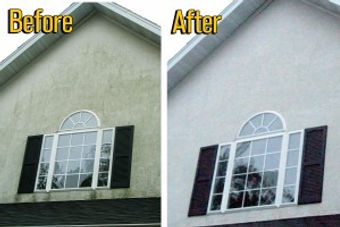 Stucco pressure washing