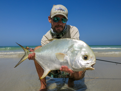 fishing Oman, Arabian Fly, permit