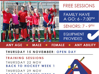 OPEN DAY & BACK TO HOCKEY PROGRAMME LAUNCHED