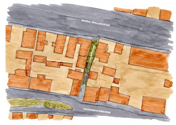 Björkholmen, planritning  Galérvägen
