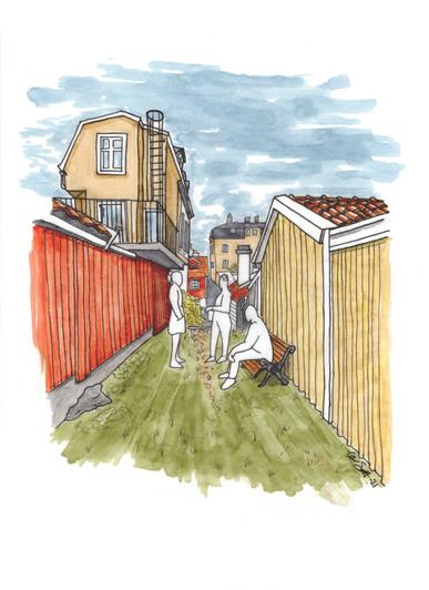 Björkholmen, illustration Galérvägen 1