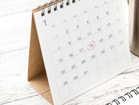 <満席御礼>2021年1月個人セッション予約状況