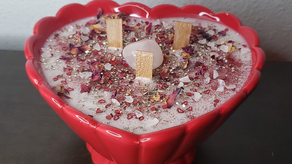 Valentines Day Candle ( Sweet sugar plum lavender)