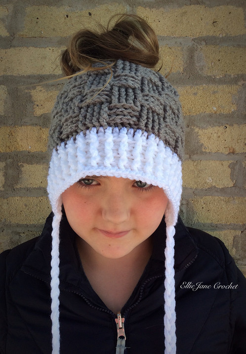 Basket Weave Ponytail Hat Winter Accessories Wisconsin Ellie