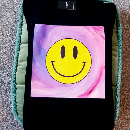 Smile In Colour (Black Tee)