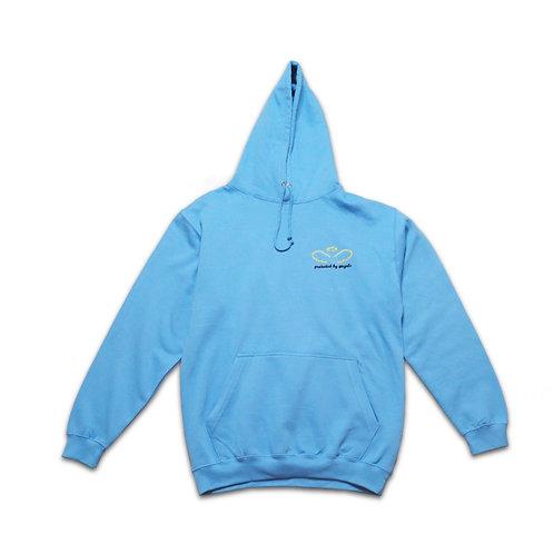 Protected By Angels Logo Hoodie BLUE