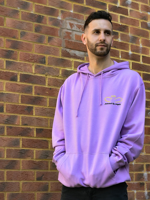Protected By Angels Logo Hoodie PURPLE