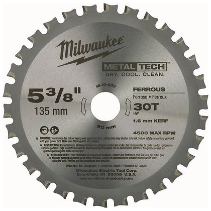 "Disco de Serra Widea para Metais 5.3/8"" MILWAUKEE"