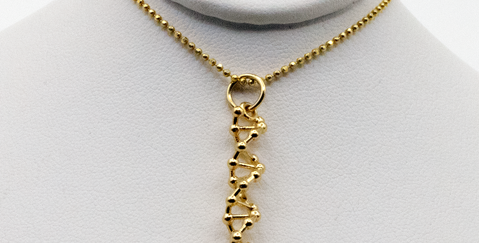 'CODE Loose Atom' Vertical Pendant Necklace
