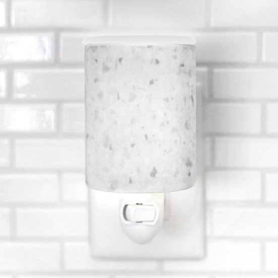 White Terrazzo Outlet Wax Warmer