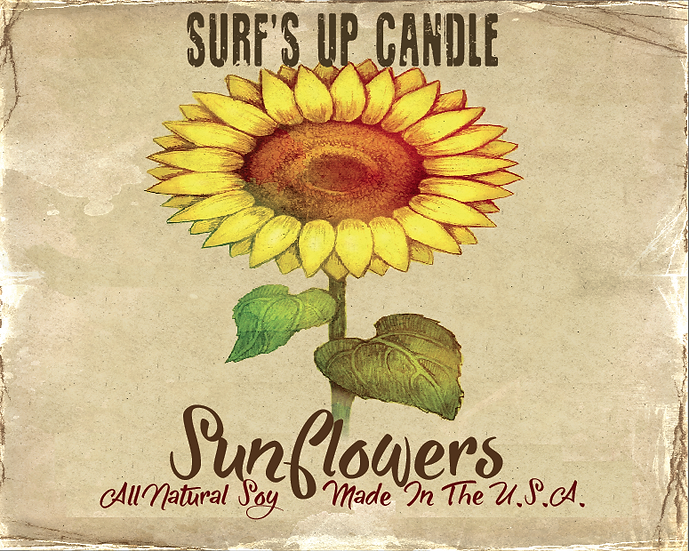 Paint Can Candle- Sunflower