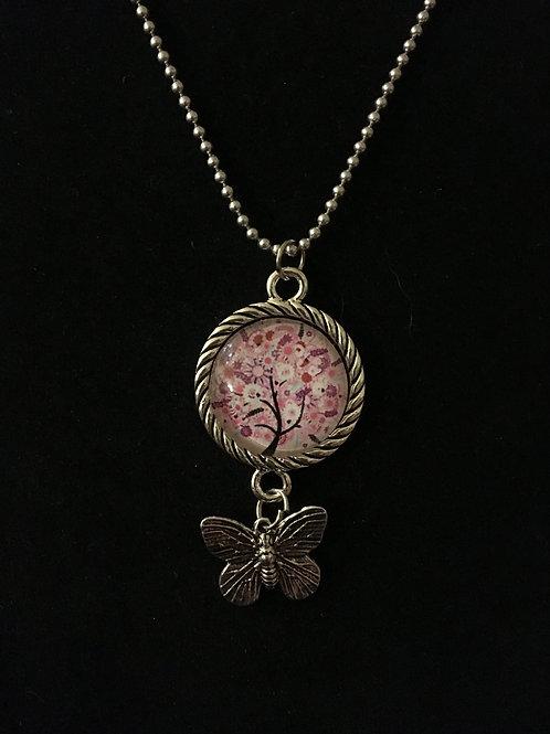 Tree w/Butterfly Pendant