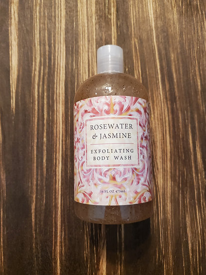 Rosewater & Jasmine Exfoliating Body Wash