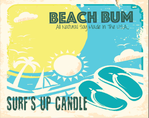 Paint Can Candle- Beach Bum