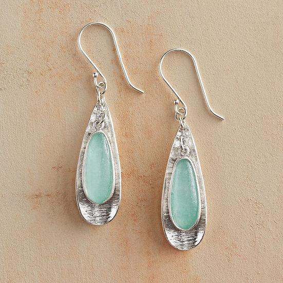 Roman Glass Petal Earrings