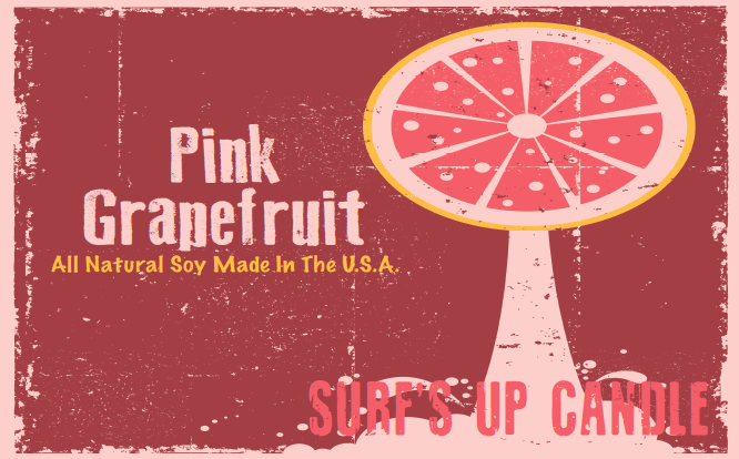 Paint Can Candle- Pink Grapefruit