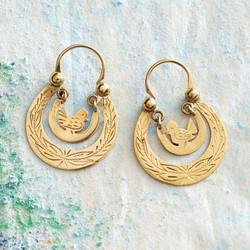 2003725 GUATEMALAN BIRD NEST EARRINGS