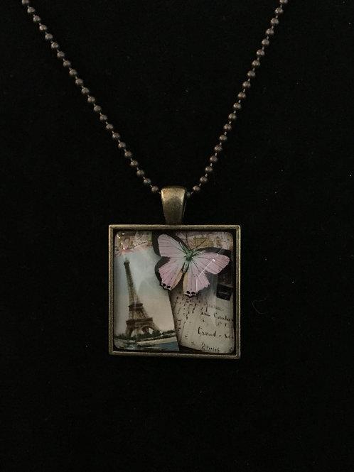 Eiffel Tower & Butterfly