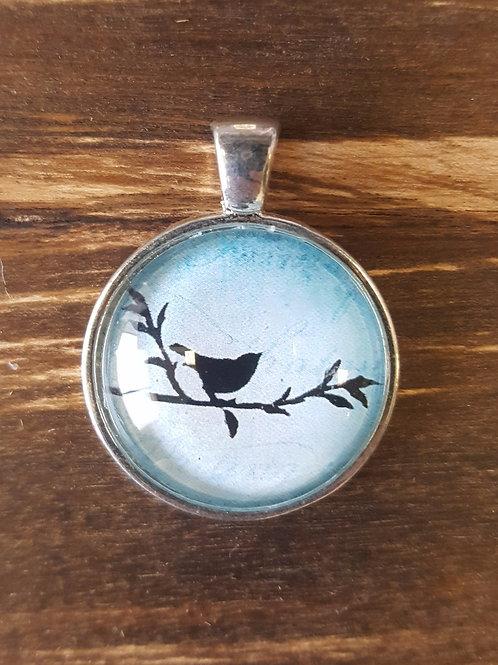 Black Bird on Twig