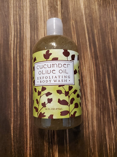 Cucumber Olive Oil Exfoliating Body Wash
