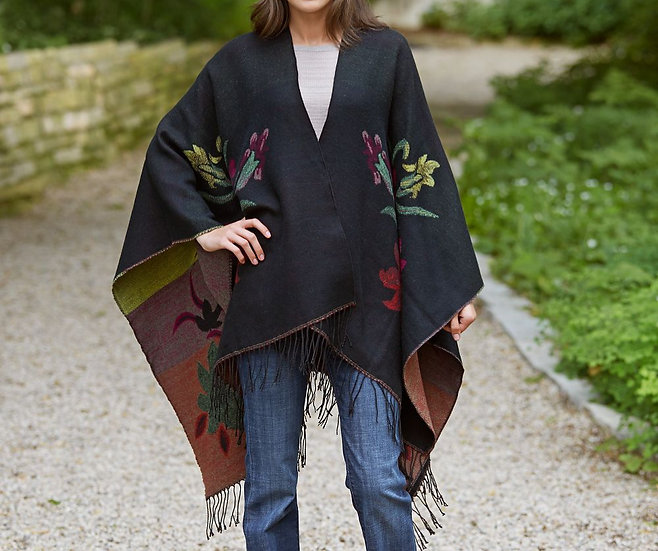 Chinese Floral Sweater Wrap